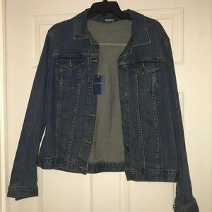 NWT Lands End classic jean jacket, size L (14-16)